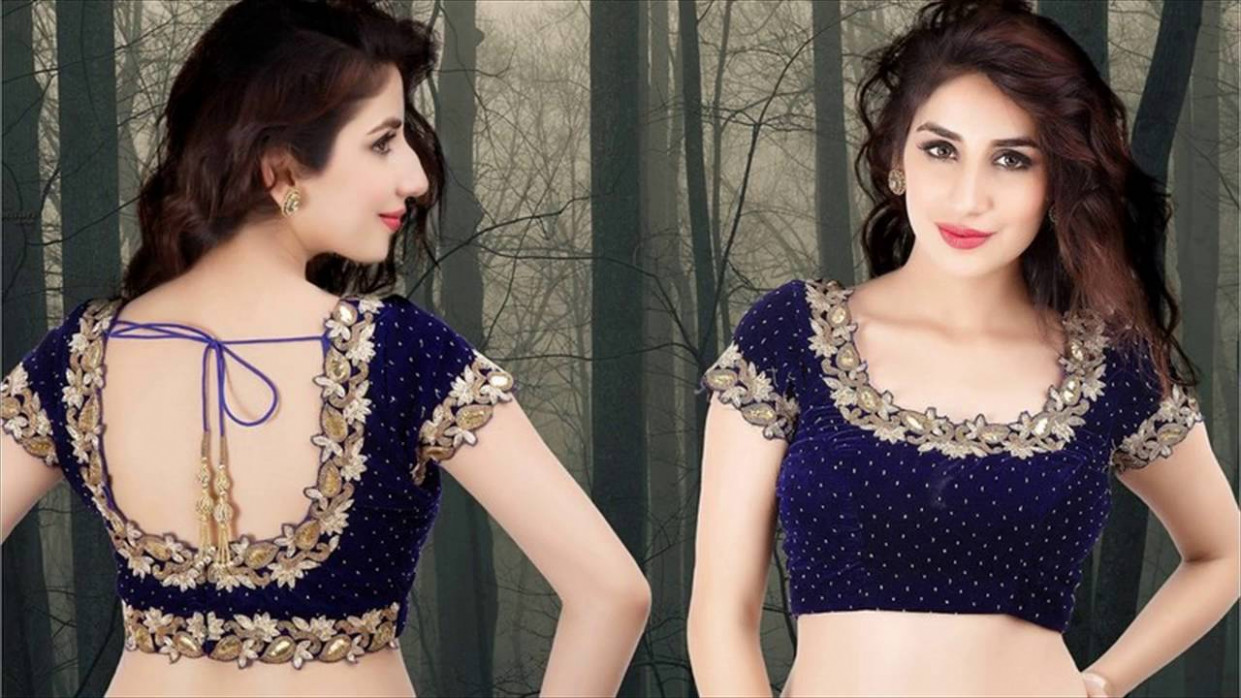 Latest Blouse Designs Front And Back - YouTube