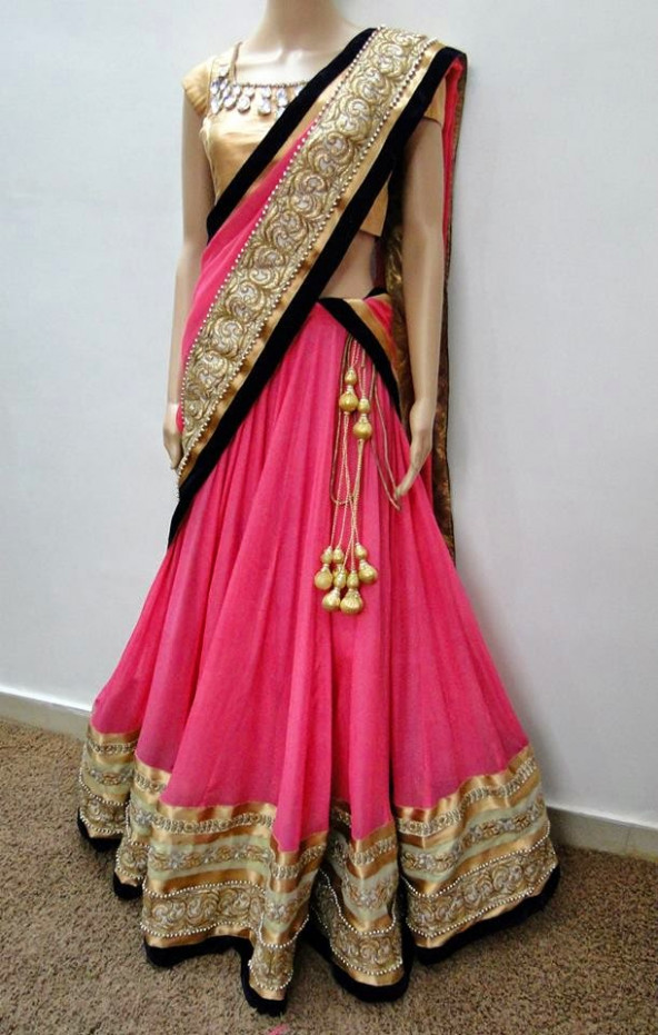 Latest Designer Half Sarees Collections To Buy Online