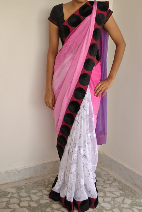 latest designer sarees: cocktail sarees
