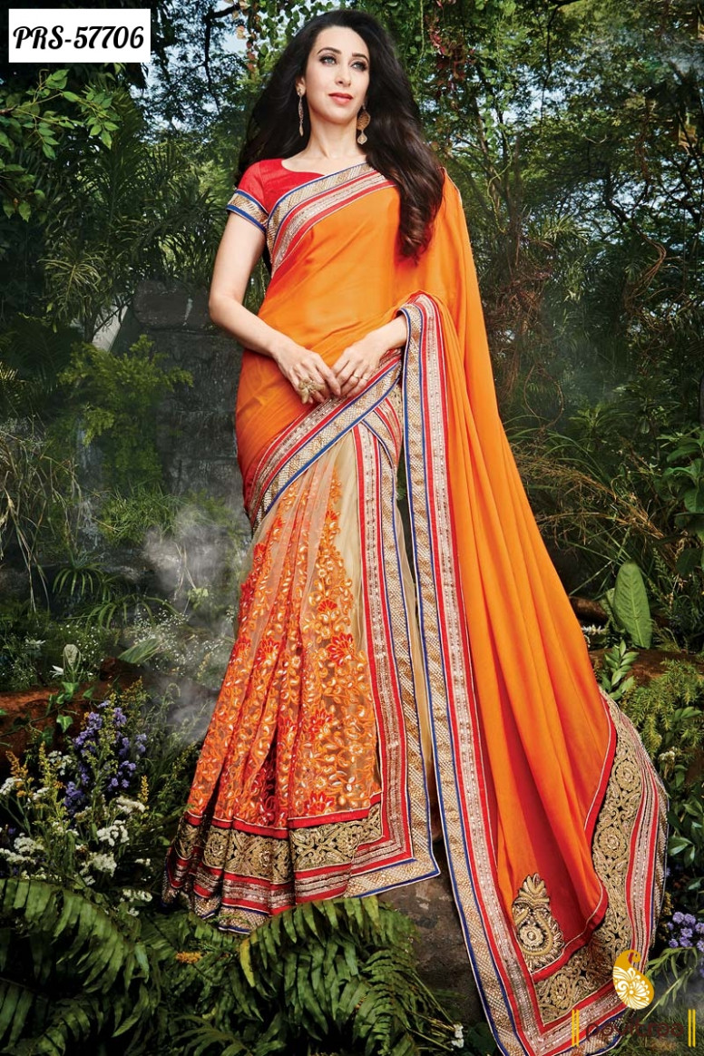 Latest Fashion Trend Georgette Bollywood Sarees For Indian