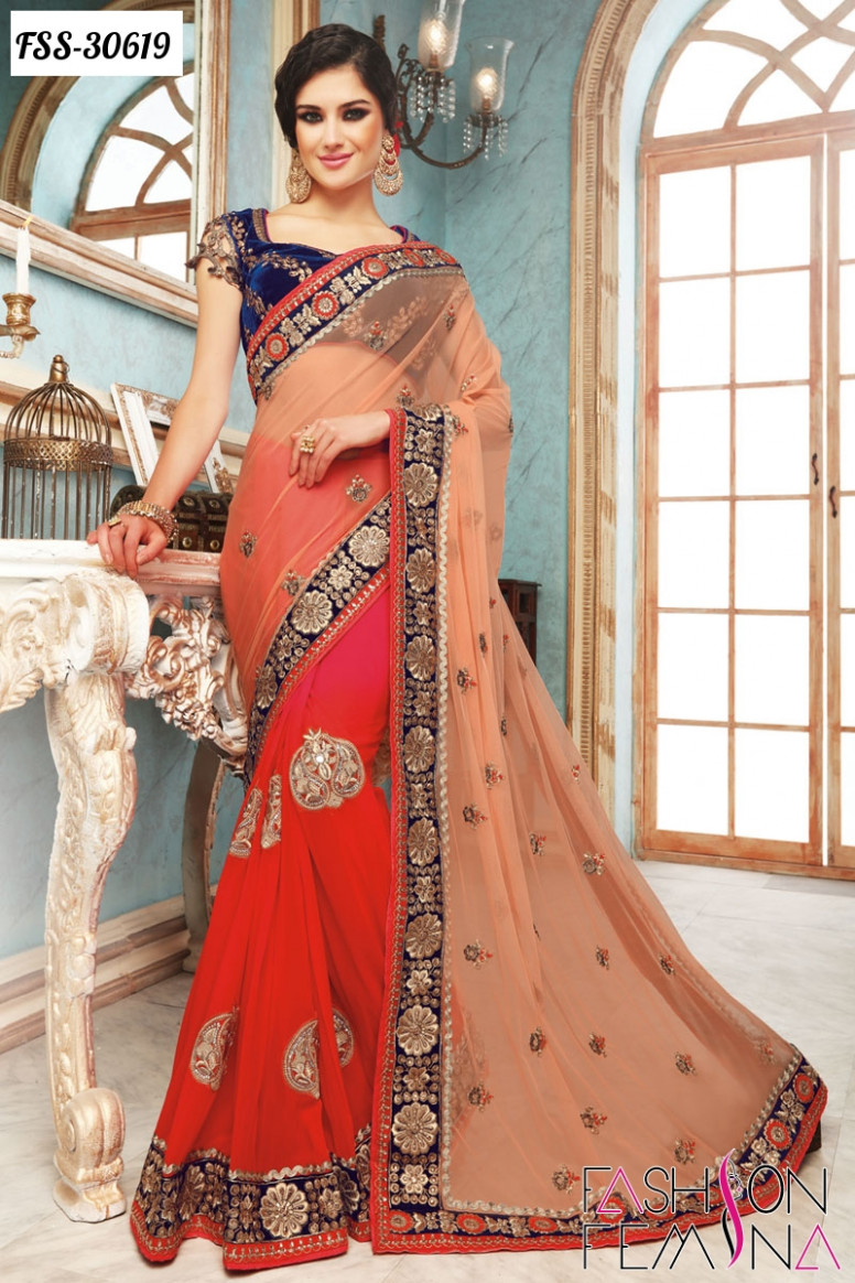 Latest Indian Designer Heavy Sarees Online Shopping For