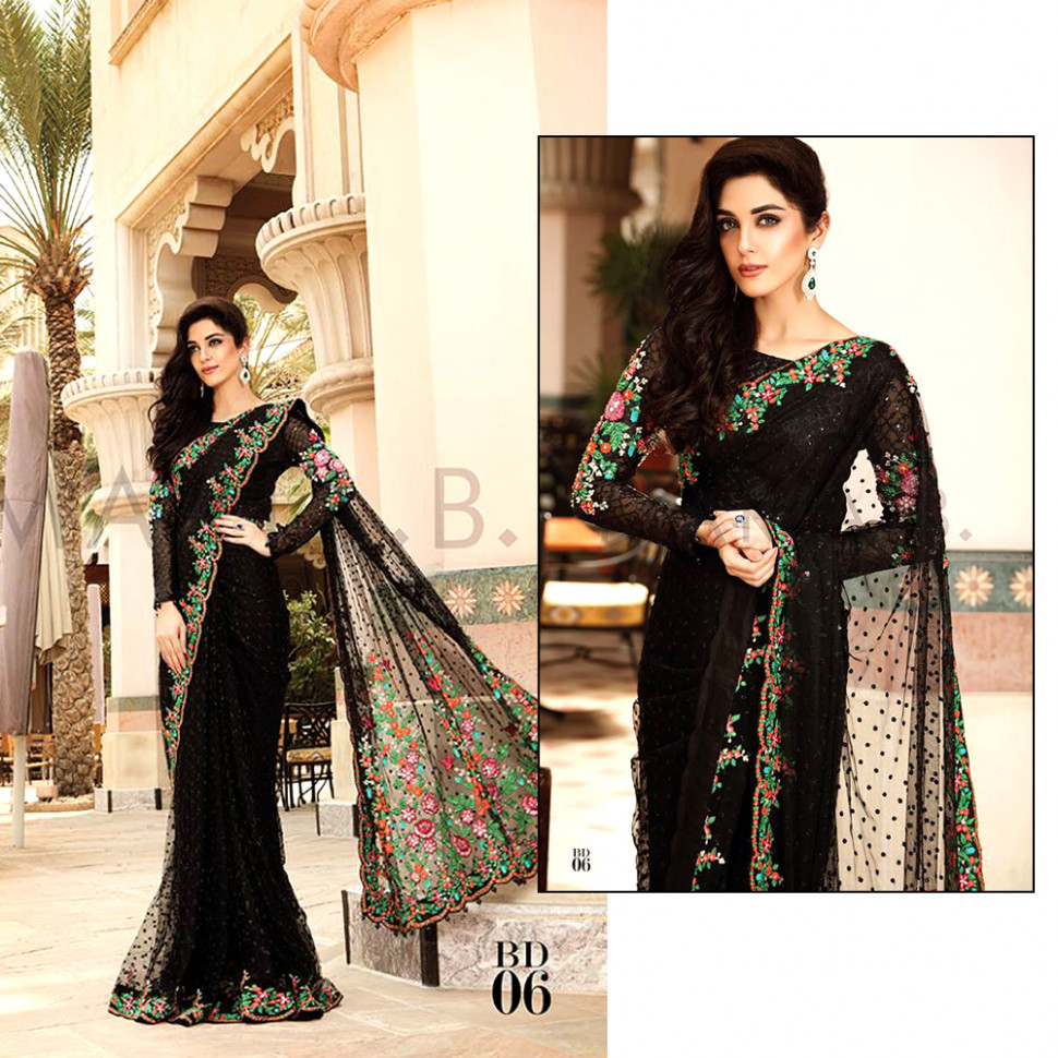 Latest Pakistani Designer Saree Designs 2017 For Women