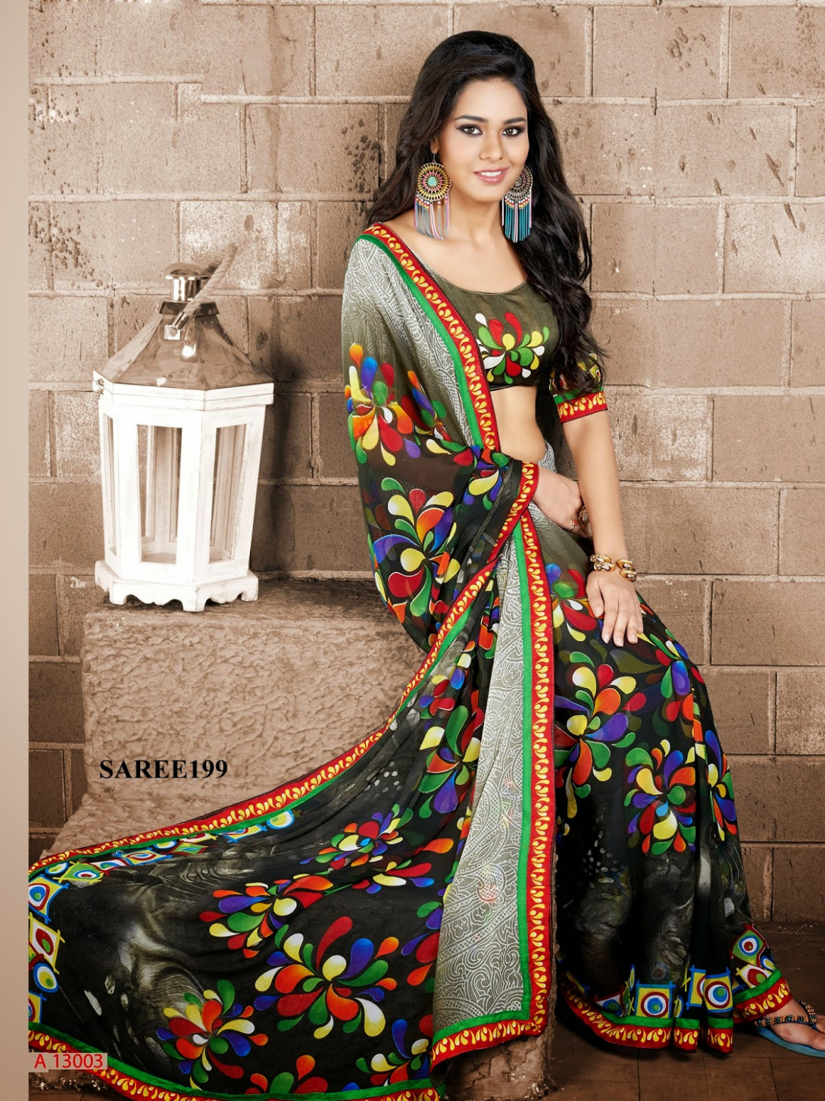 Latest Printed Saree - Wholesale Supplier  Helix Enterprise