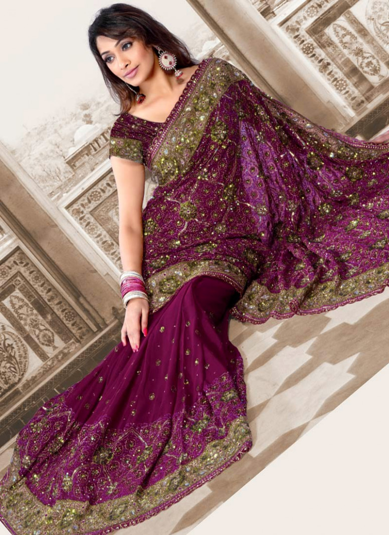 Latest Saree Designs  Wedding Party Wear Saree's  Indian