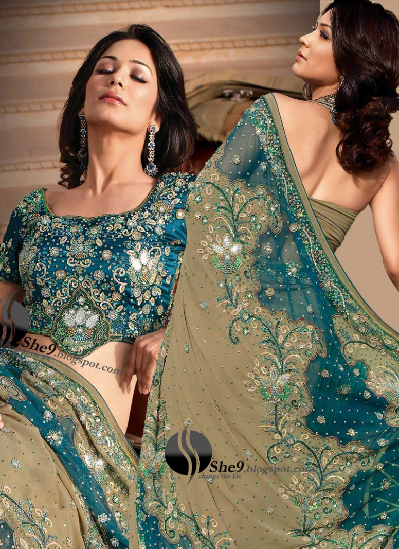 Latest Saree Fashion 2010  Double Blouse Sarees  Indian
