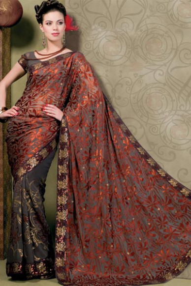 Latest Saree Fashion: Stone Work Designer Sarees