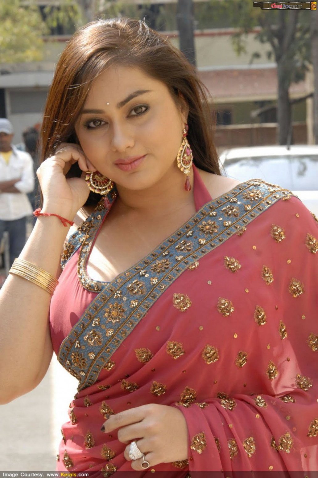 Malayalam Posters: Namitha in beautiful saree- huge boobs