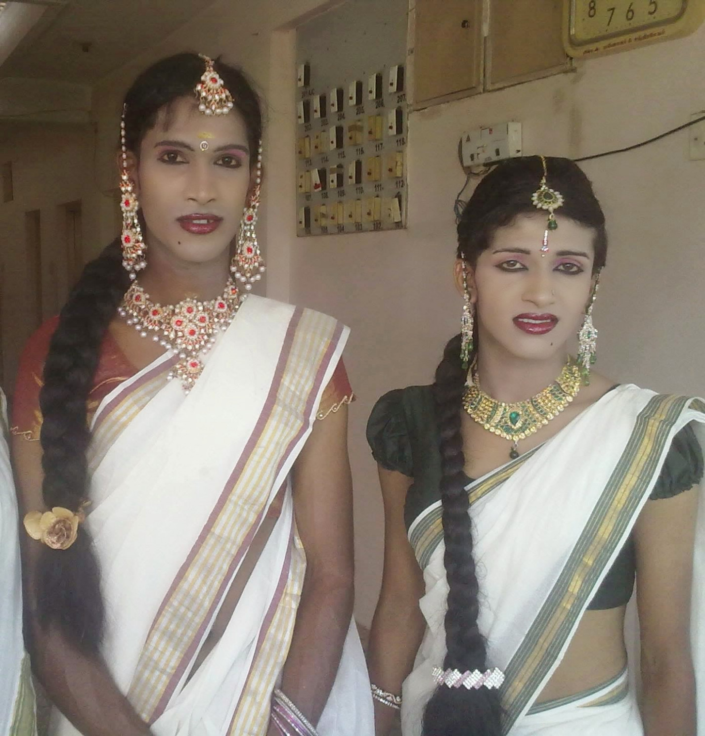 Male To Female Makeup Transformation In Saree In India