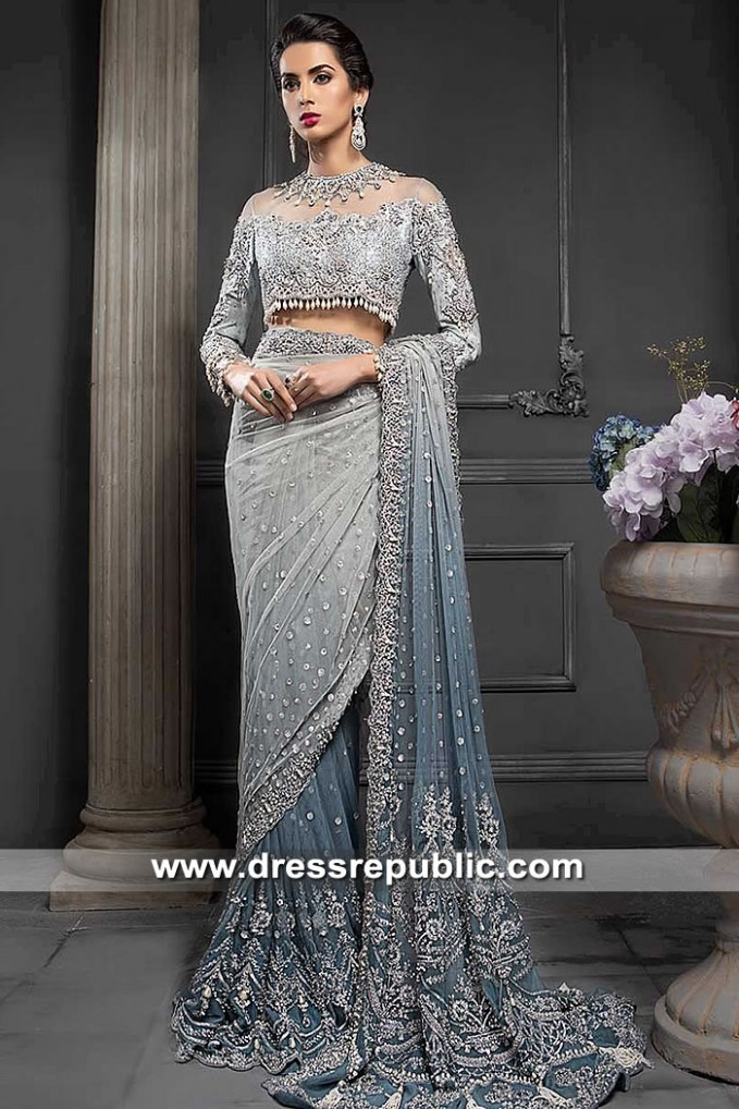 Maria B Bridal Sarees 2019 Heavy Formal Wedding Saree Shop