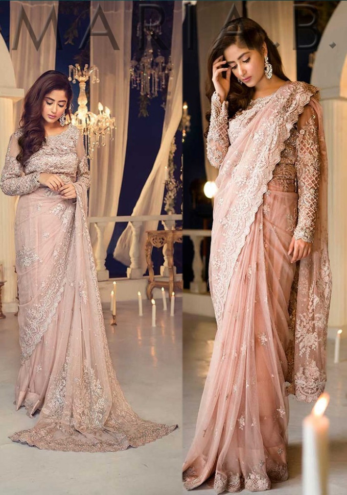 Maria B Embroidered Saree 2018  Pakistani Dresses Marketplace