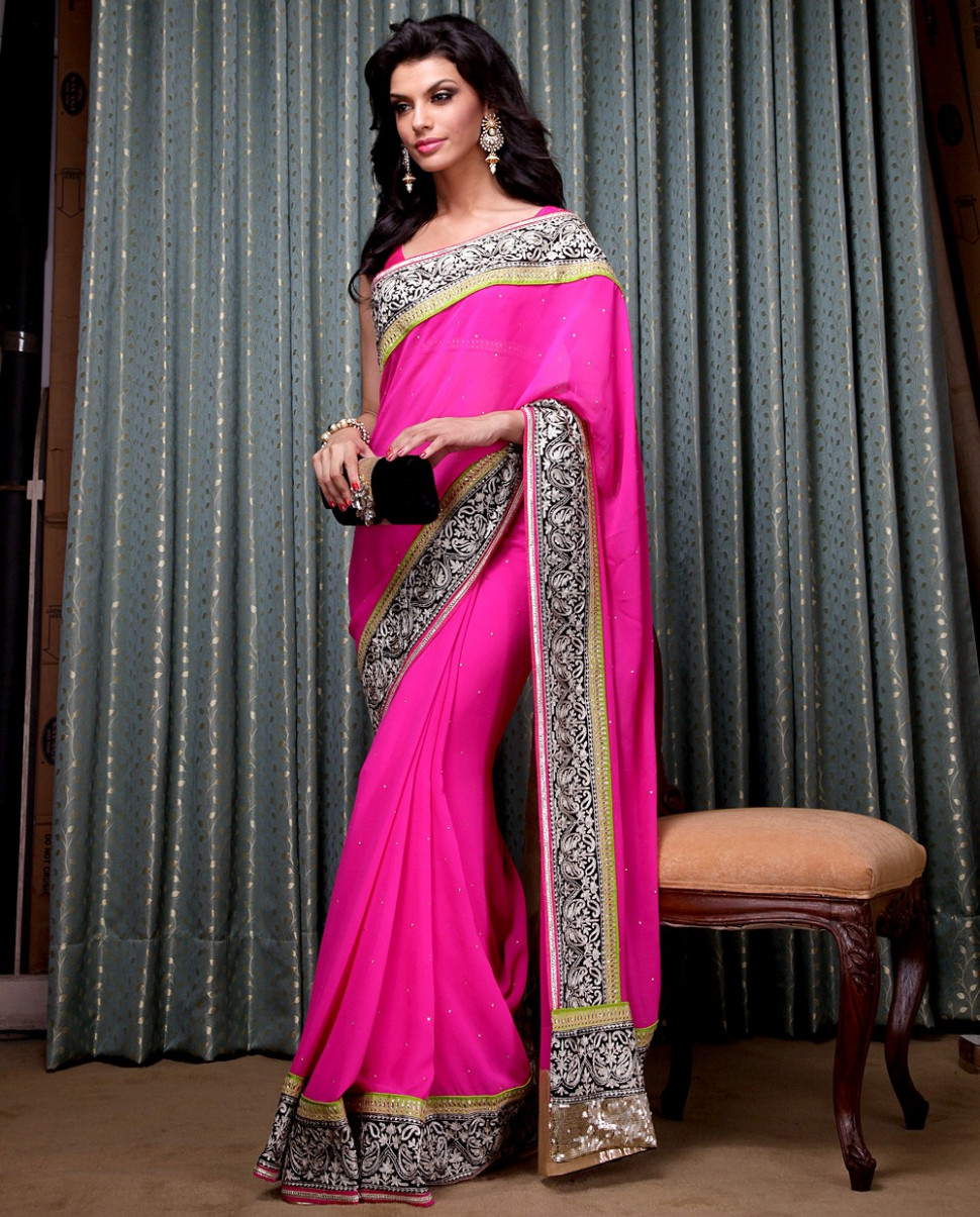 Meena Bazaar Latest Party Wear Sarees Collection 2013 For