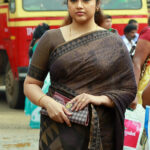 Meena latest hot photos in saree from Drishyam Malayalam