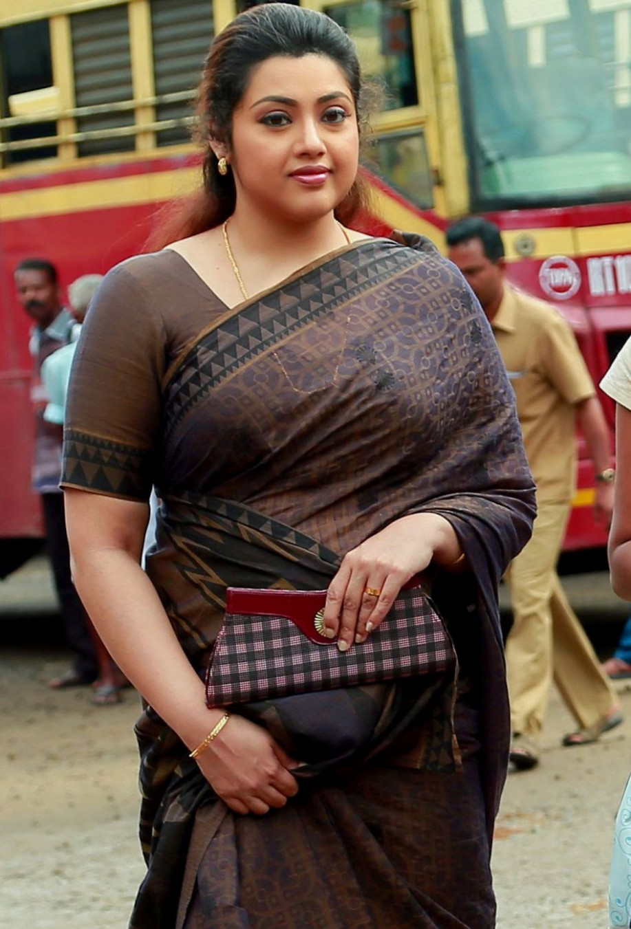 Meena Looks Very Cunning in Indian Saree, What you Say