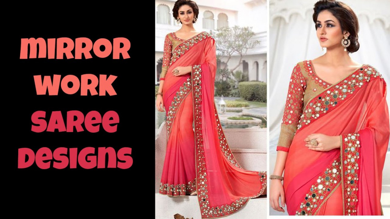 Mirror Work Saree Designs - YouTube