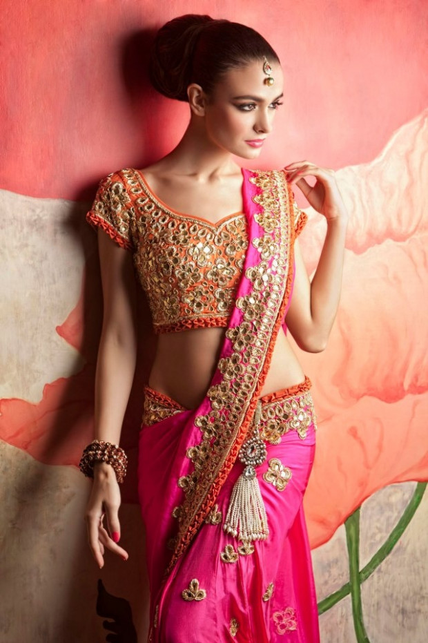 Mirror Work Sarees and Lehengas from PapaDontPreach