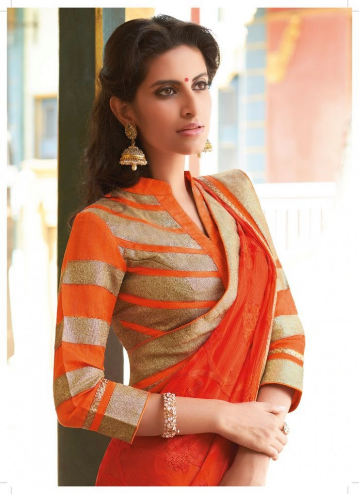 MODELS OF BLOUSE DESIGNS: FRONT COLLAR NECK WITH UNDER V
