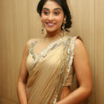 MODELS OF BLOUSE DESIGNS: LATEST ACTRESS REGINA GOLD SAREE