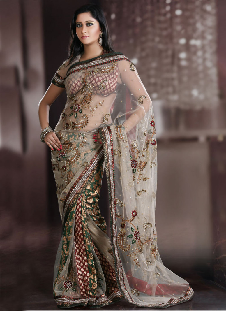 Models promoting Sarees