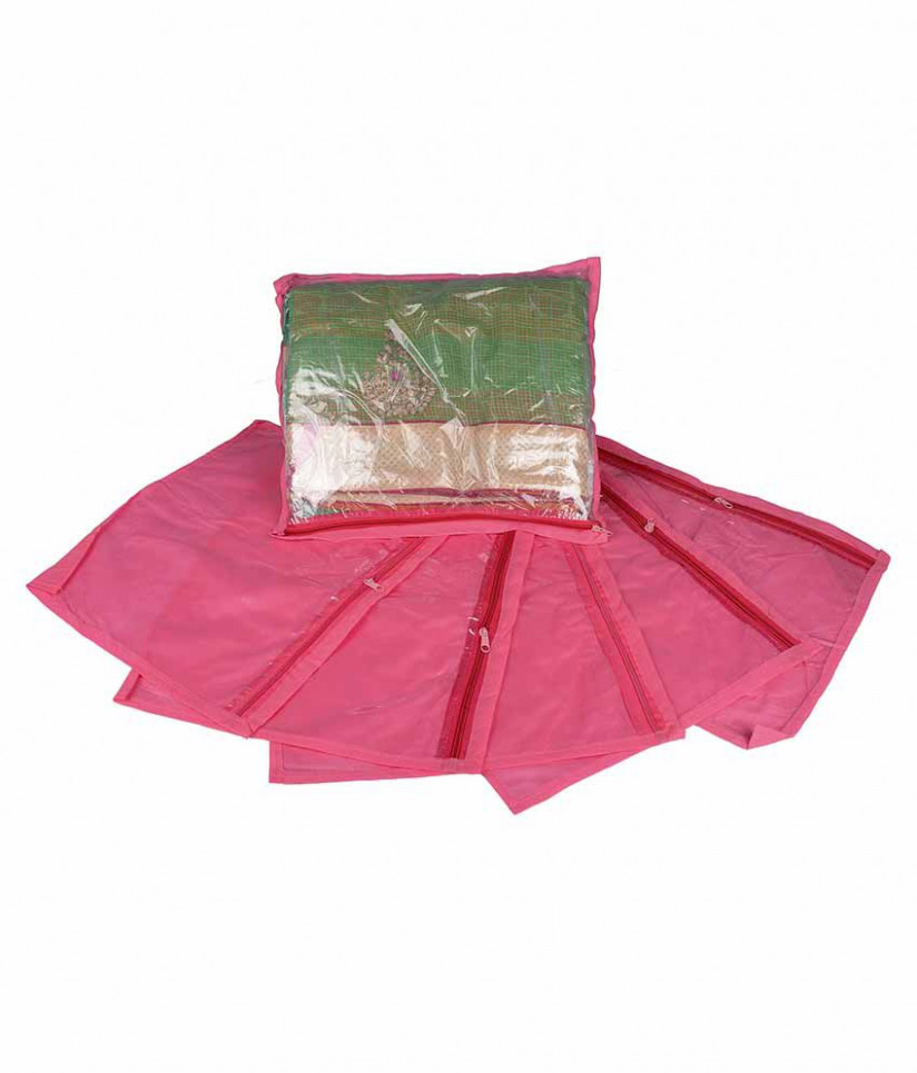 Mridang Pink Saree Covers available at SnapDeal for Rs.149