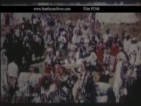 Native American Indian Rain Dance, 1950s - Film 95346