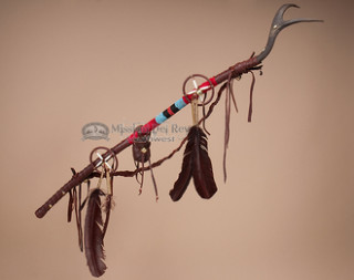 Native American Tigua Indian Antler Dance Stick