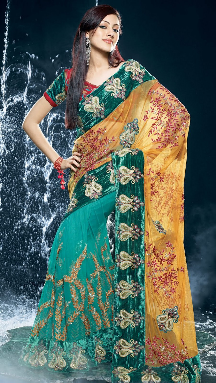 Natural Fashions: Half saree models