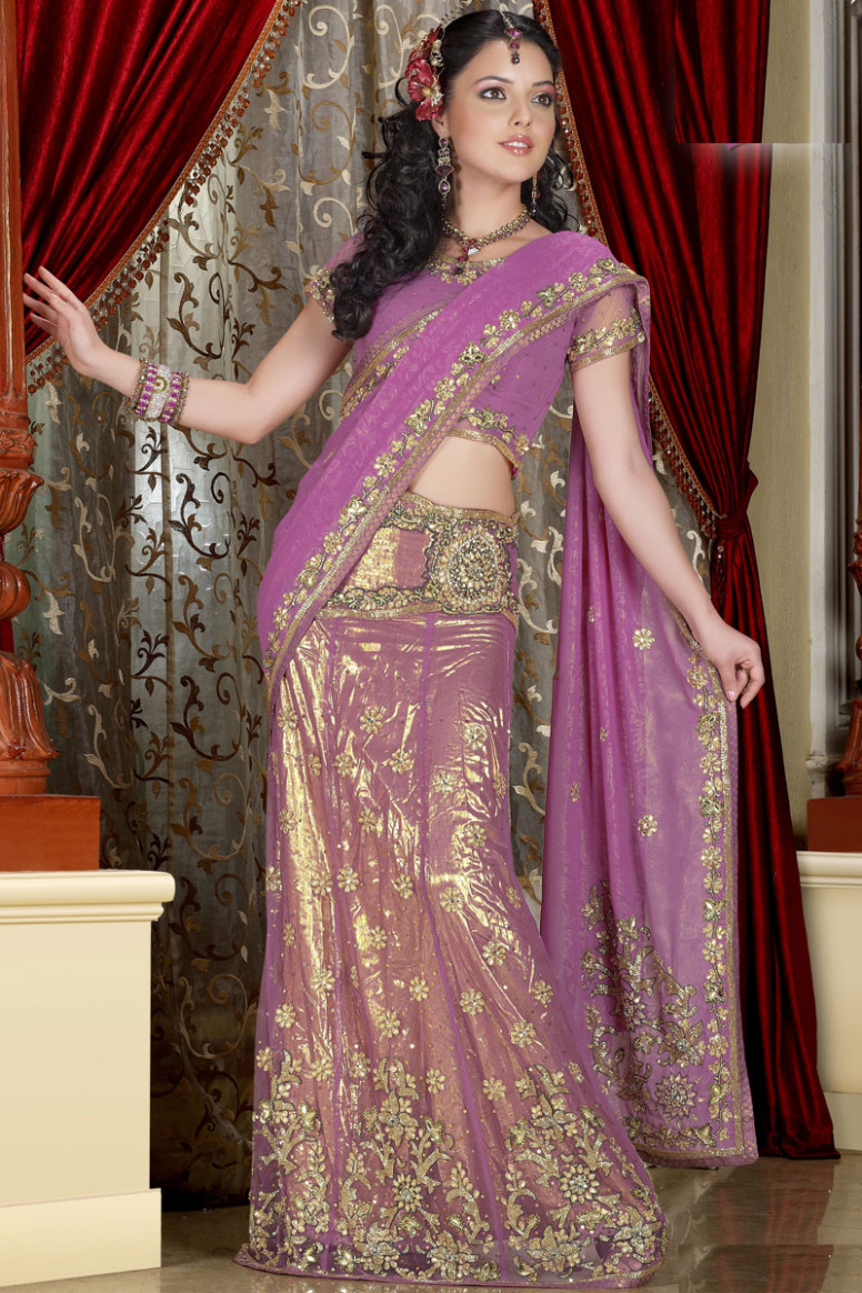 New Indian Saree: Embroidered Sarees Online