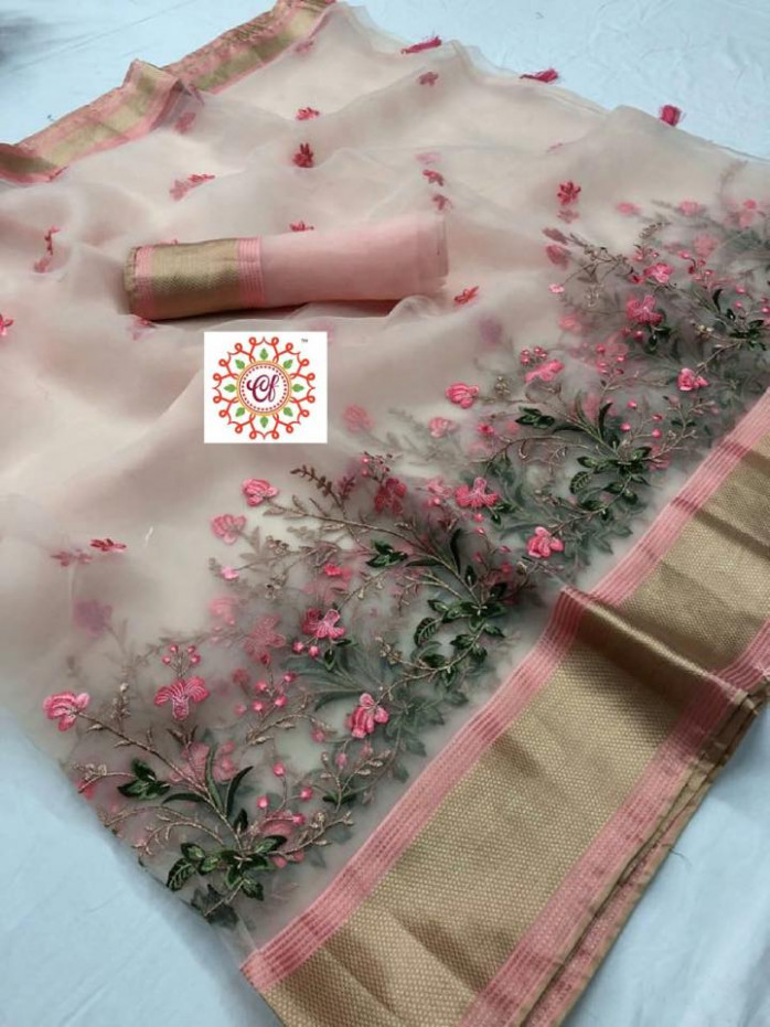 New Model Organza Silk Sarees Buy Online  StarsFash