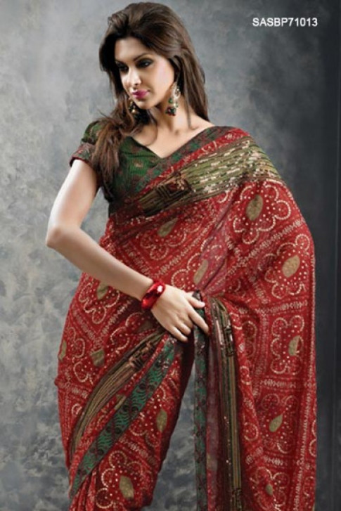 Nice Posts 4 You: Top Best Bandhej Saree Models