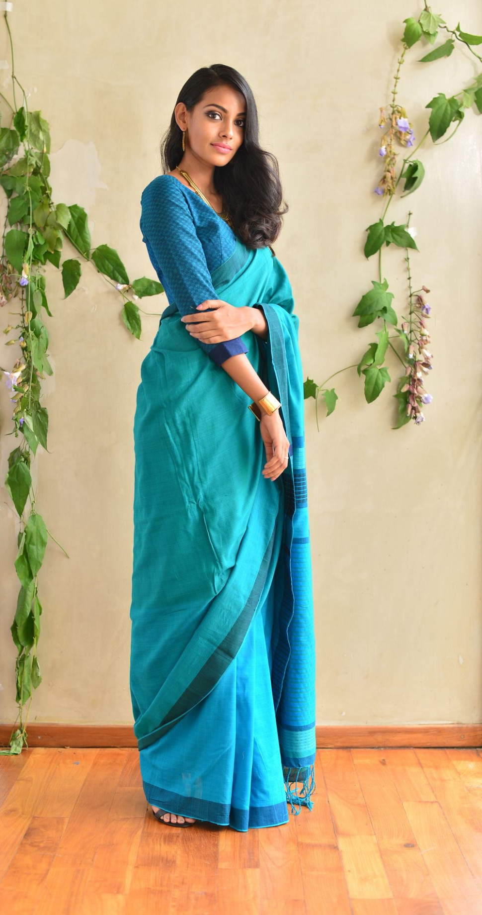 Office/casual wear  Elegant saree, Casual saree, Saree