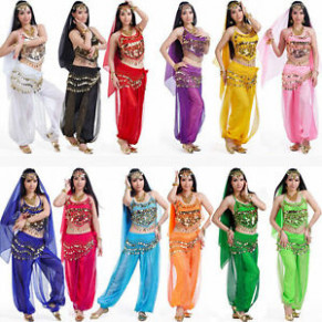 Oriental Belly Indian Dance Costume Bollywood Carnival