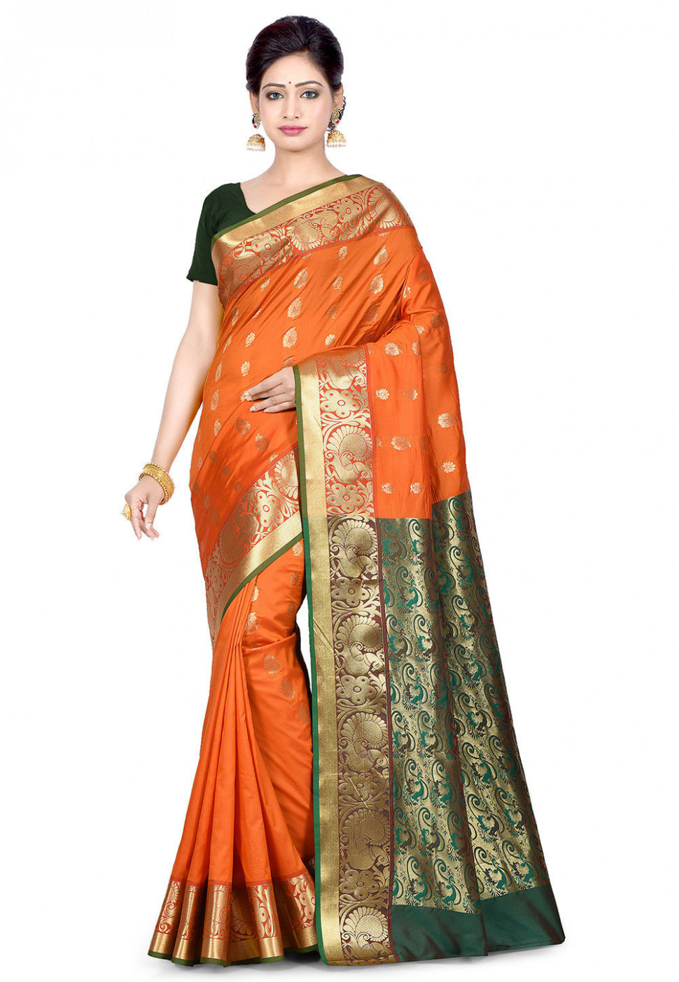 Paithani Saree in Orange : SPQA2