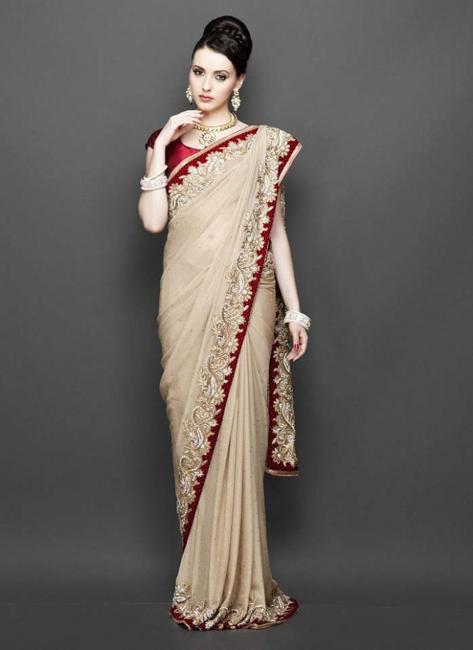 Pakistani & Indian Designers Party Wear Sarees Collection