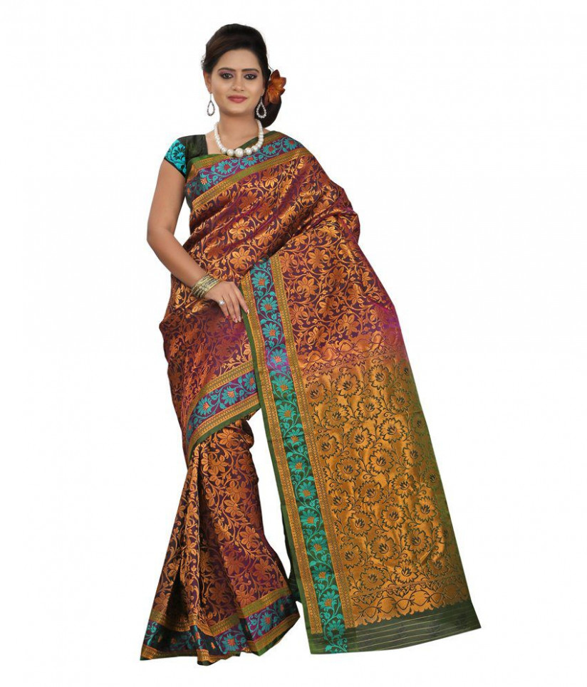 Parichay Purple Silk Paithani Saree - Buy Parichay Purple