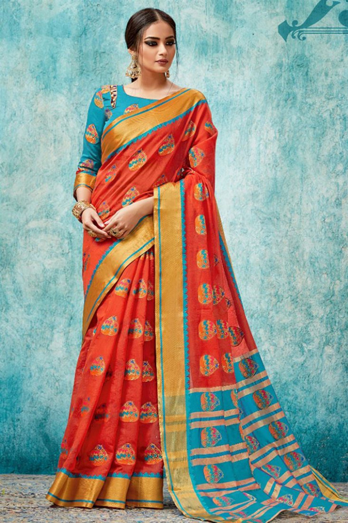 Party Cum Reception Wear Girls Traditional Indian Sarees