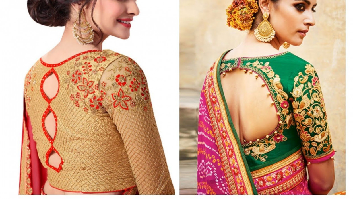 Pattu Saree Blouse Designs 2020  Latest Blouse Designs  - latest saree blouse designs