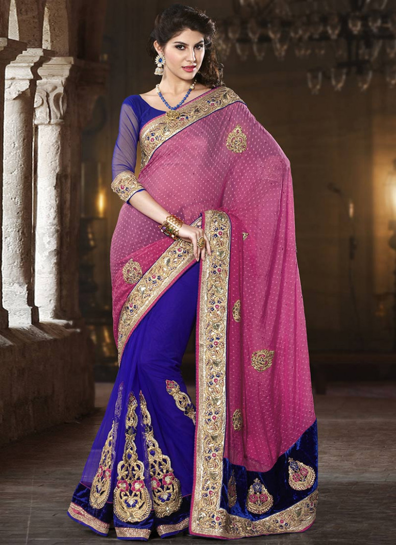 Pink and Purple Exclusive Saree Designs - Latest Fashion Today