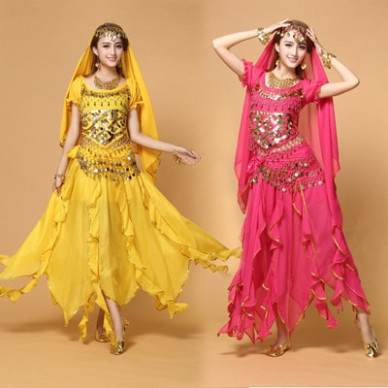 Plus Size Belly Dance Costume Female Indian Dance Dress