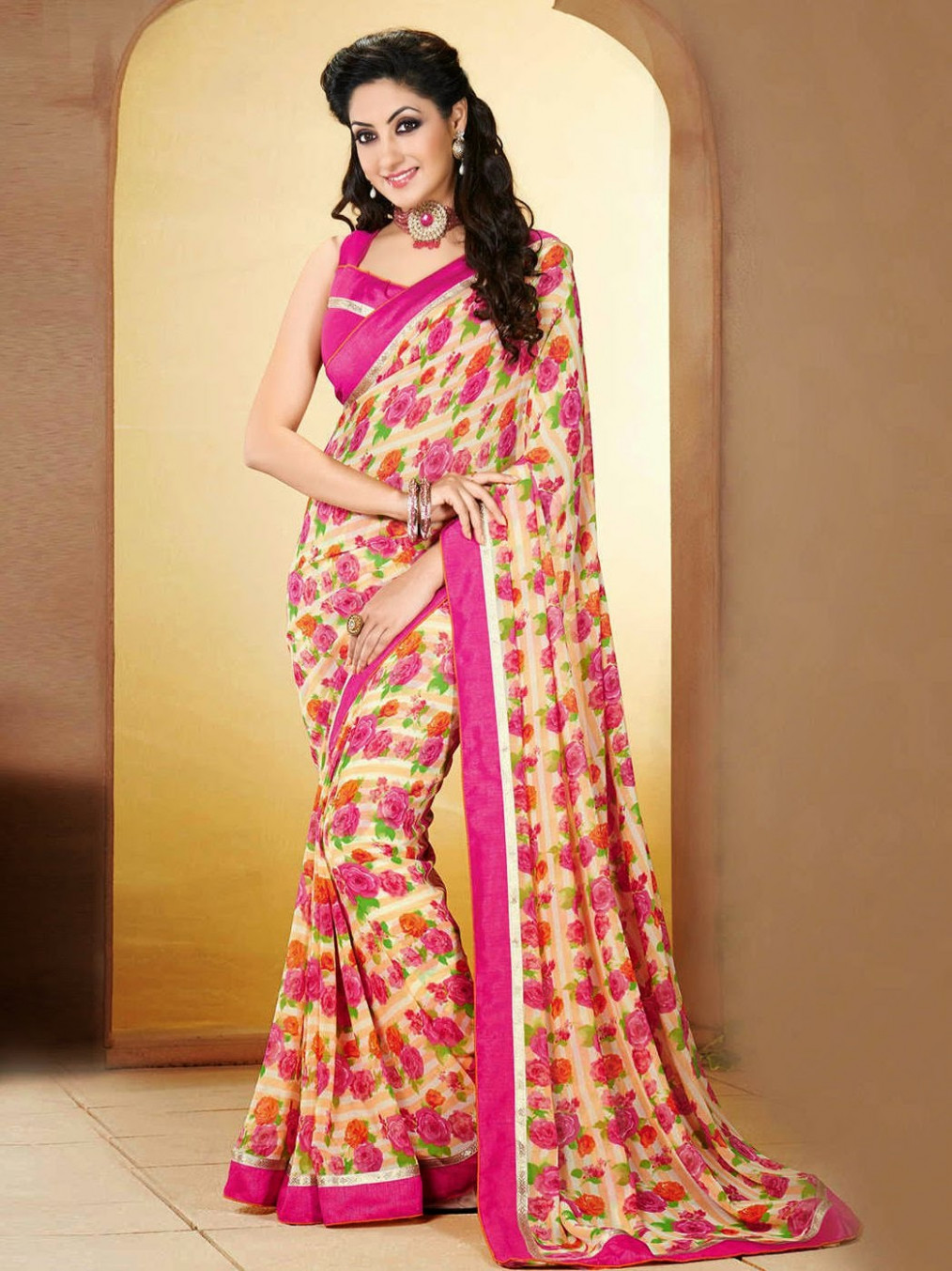 Printed Saree Trend 2015 ~ Fashions Clicks