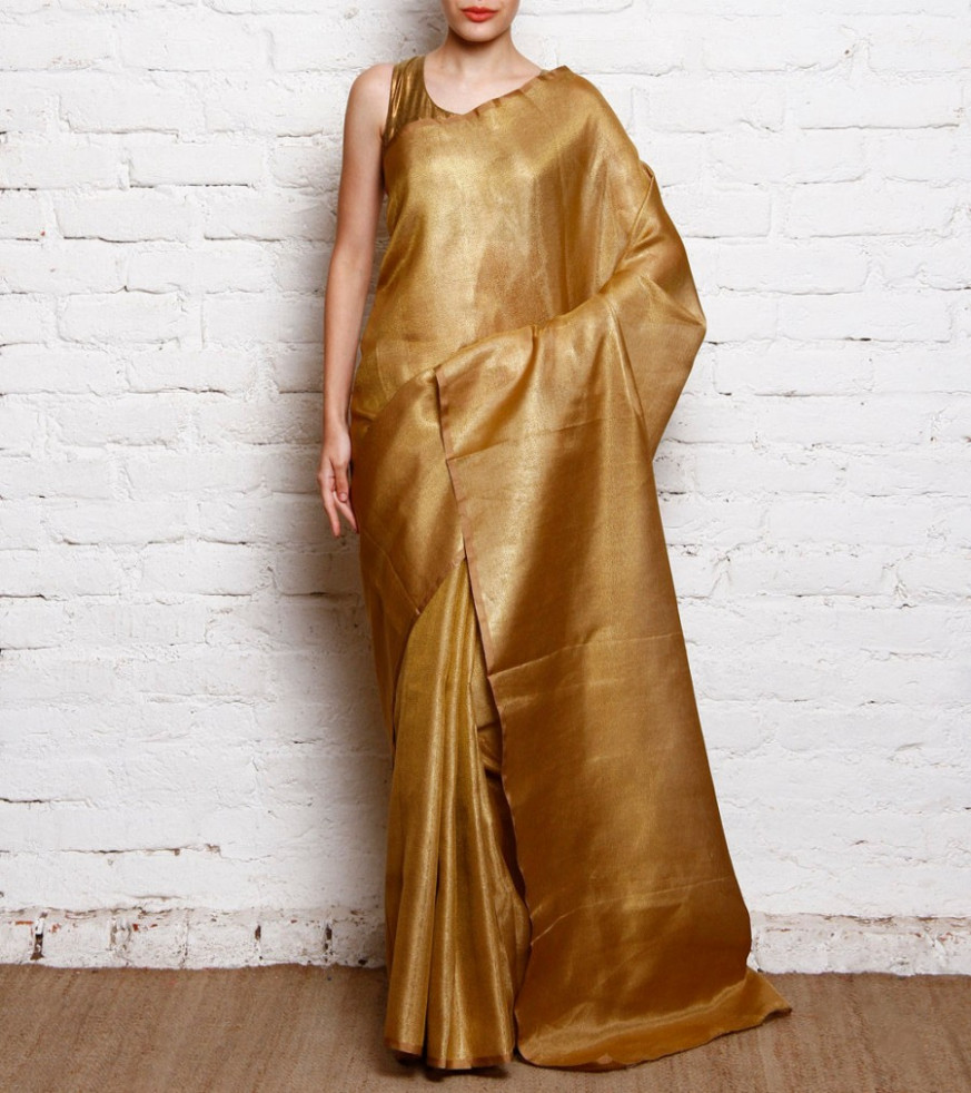 Purchase Online Gold Tissue Saree  500554