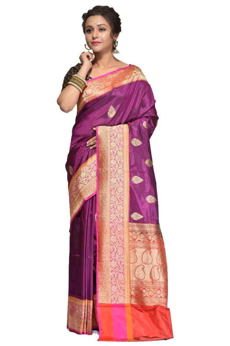 Pure Katan Silk Saree (adi31485)