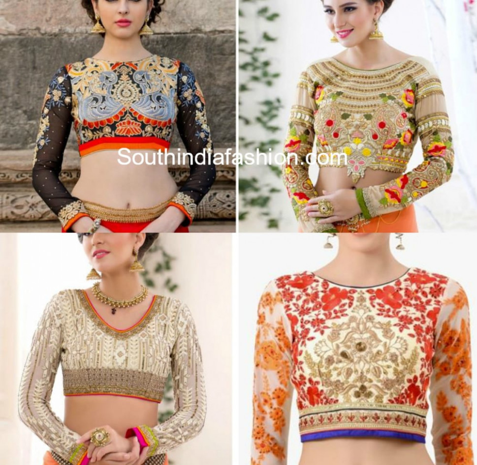 Readymade Designer Saree Blouses - Shop Online! – South