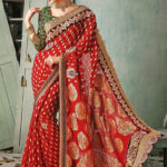 Red Banarasi Wedding Saree