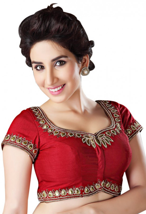 Red ReadyMade Saree Blouse Choli KP39 by SarisAndThings on