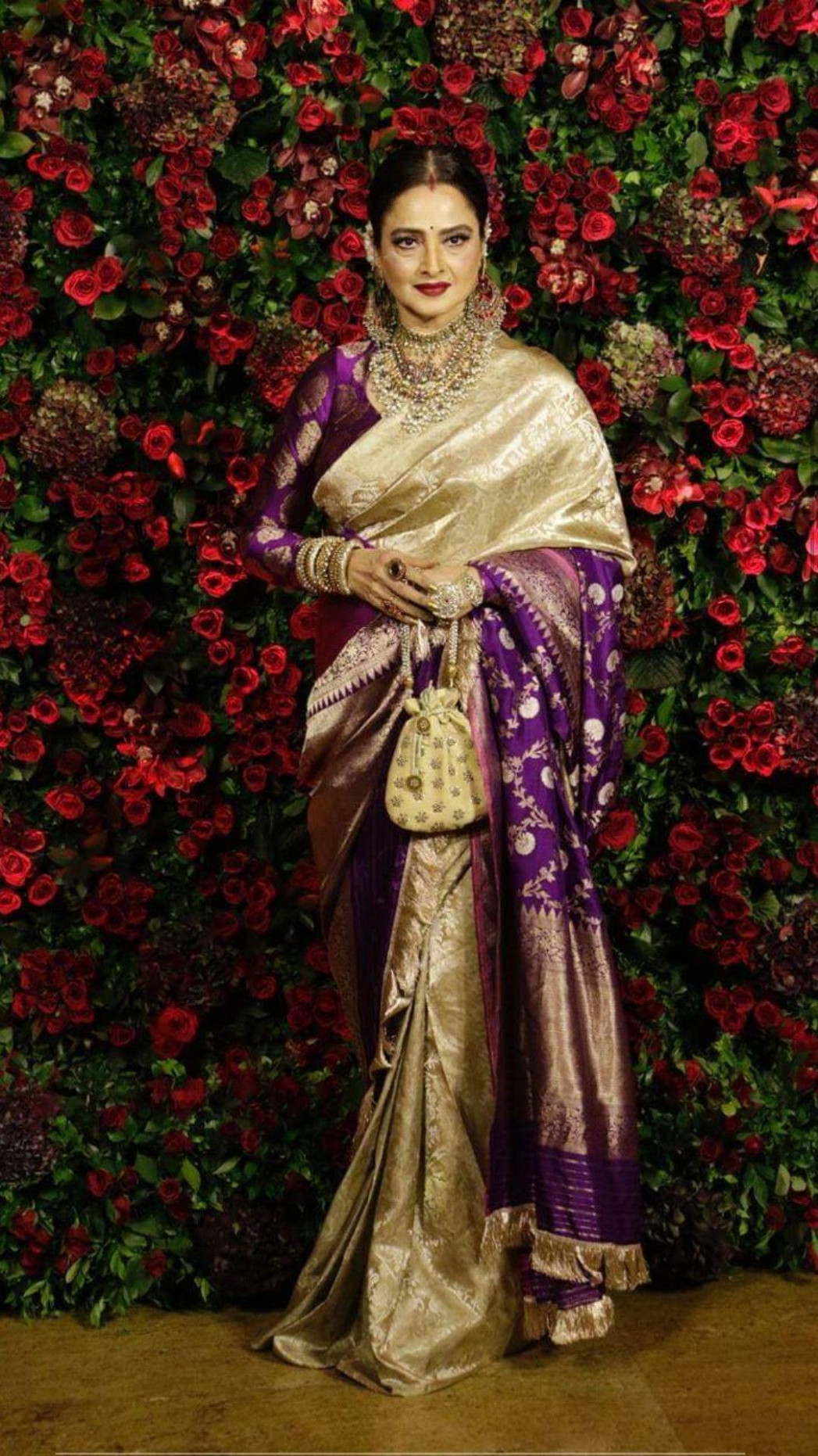 Rekha @ deepveer's  Saree designs, Rekha saree, Silk