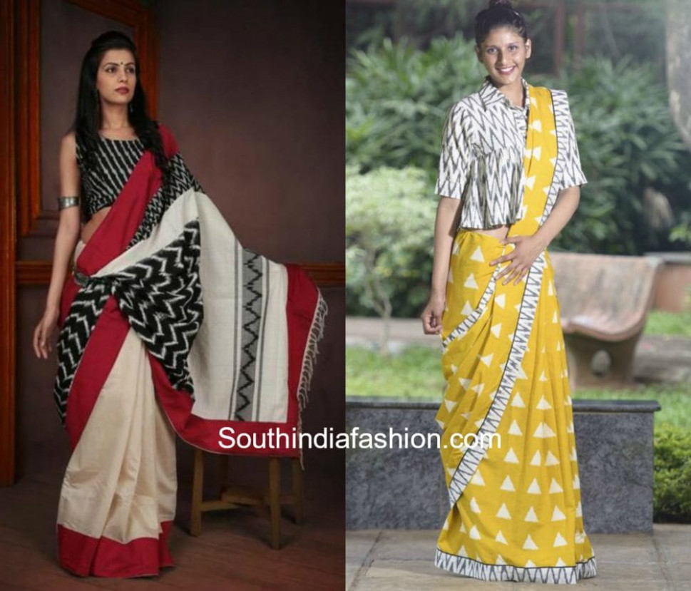 Rock Your Sarees With Ikat Blouses –South India Fashion