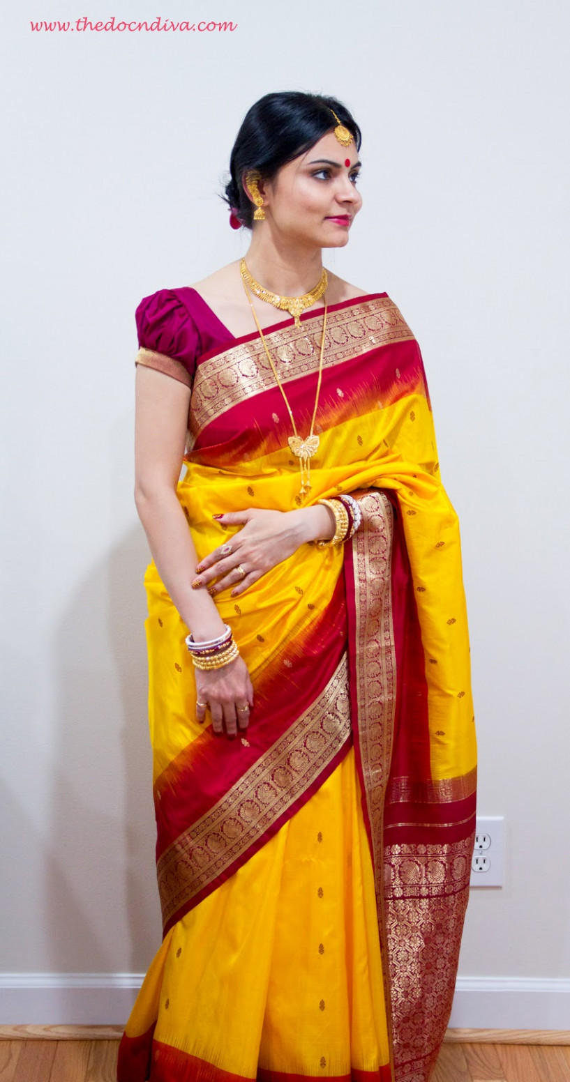 Saree as Outfit of the Day: Traditional Bengali Look