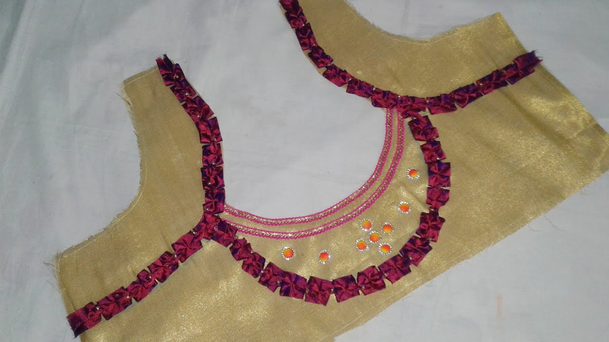 Saree Blouse Designs cutting and Stitching at Home # DIY