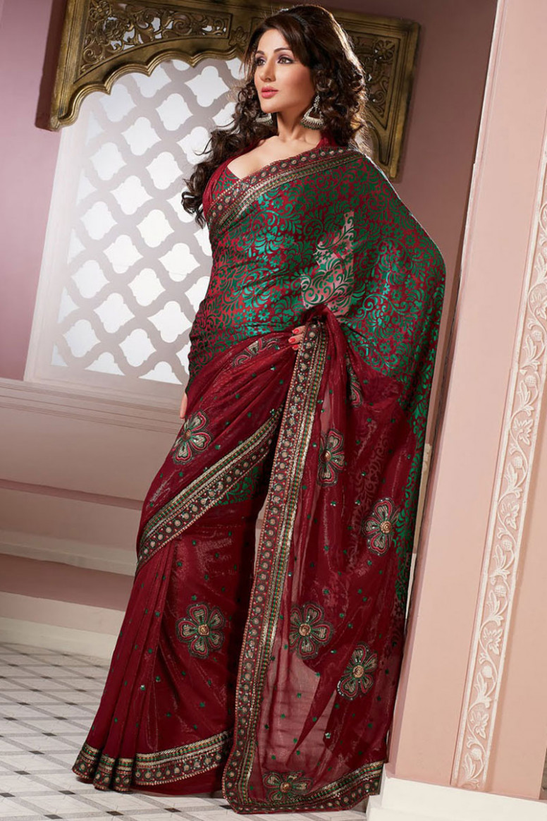 Saree Designs : Latest Collection of Indian Net Designer