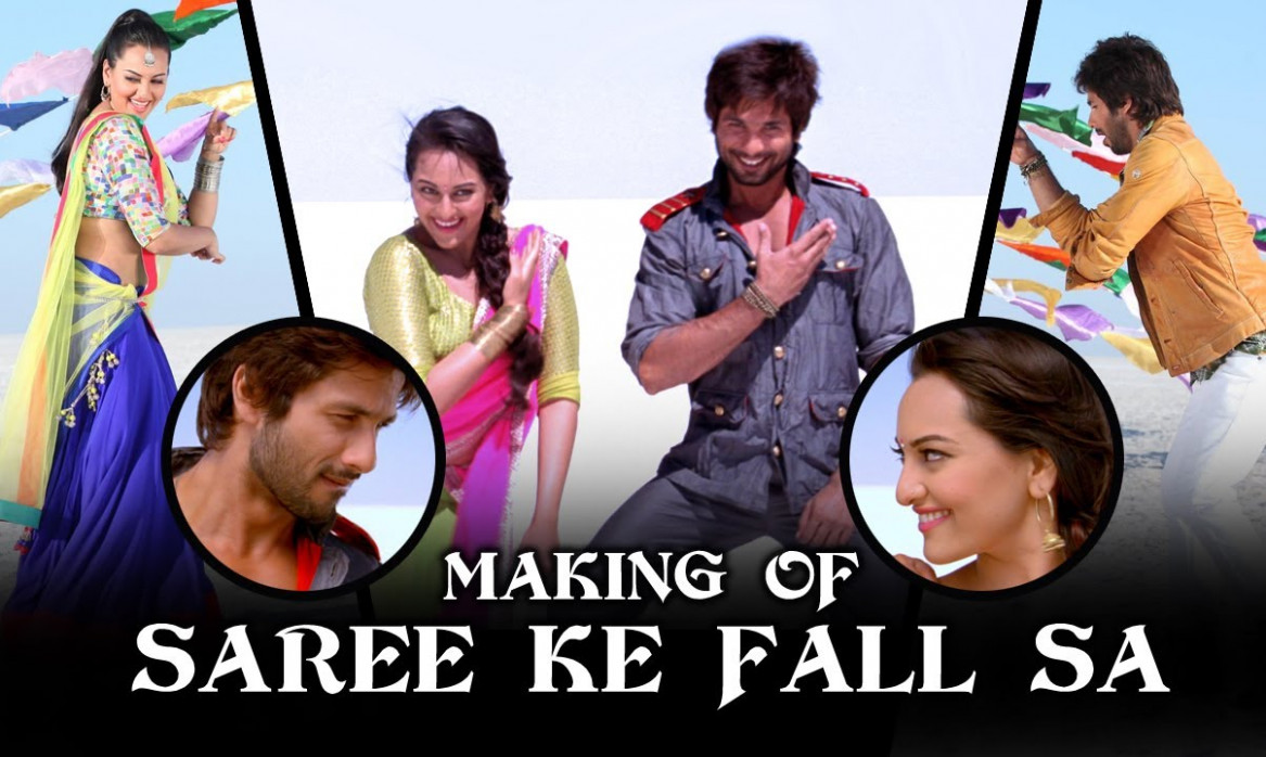 Saree Ke Fall Sa - Making Of The Song - RRajkumar - YouTube
